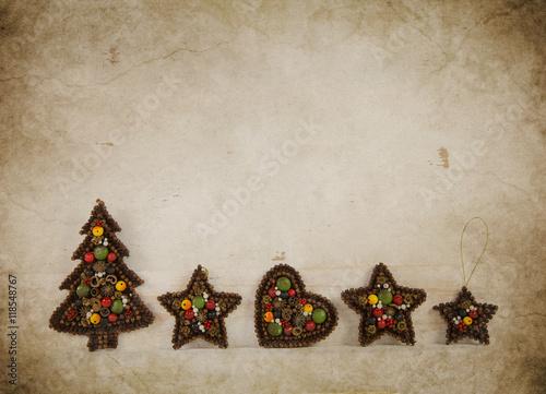 Nostalgische Weihnachtskarten Kaufen.Alte Selbst Gebastelte Weihnachten Dekoration Im Vintage Und