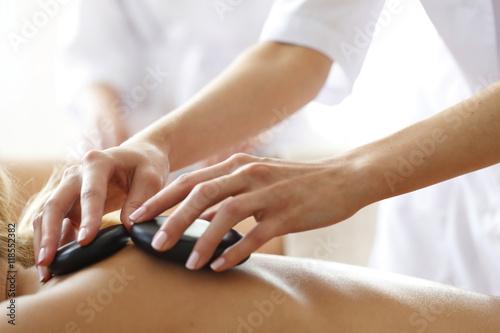 Fotografie, Obraz  Spa hot stone massage
