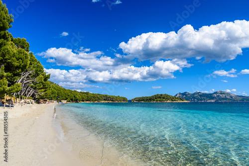 Foto auf Gartenposter Strand Platja de Formentor - beautiful beach at cap formentor, Mallorca