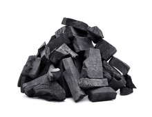 Charcoal Isolated On White Background