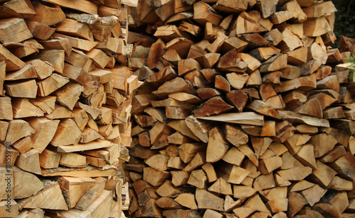 Aluminium Prints Firewood texture Round wood piles texture background