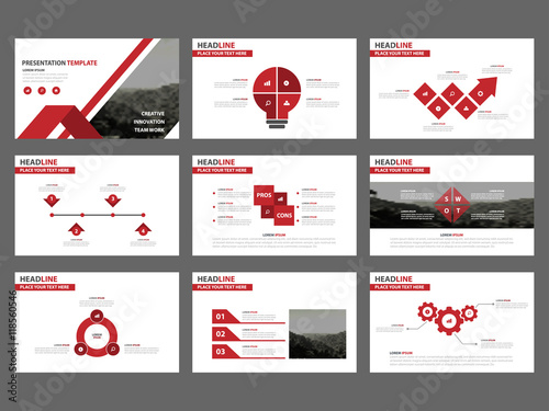 Red abstract presentation templates infographic elements template red abstract presentation templates infographic elements template flat design set for business proposal brochure flyer thecheapjerseys Image collections
