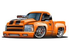 Vector Cartoon Hot Rod. Available EPS-10 Format Separated By Groups For Easy Edit