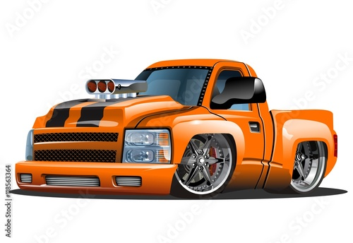 Staande foto Cartoon cars Vector cartoon Hot Rod. Available EPS-10 format separated by groups for easy edit