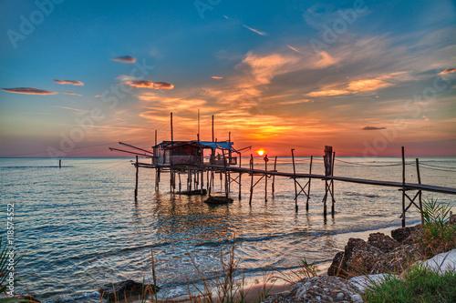 Photo Adriatic sea coast in Chieti, Abruzzo, Italy