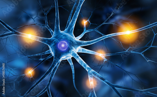 Nervenzelle in Aktion Canvas Print