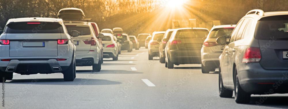 Fototapeta Stau auf der Autobahn