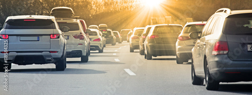 Fotografía Stau auf der Autobahn