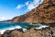 Beach light water in lanzarote isle foam rock spain landscape stone sky cloud. Lanzarote. Canary Islands. Spain