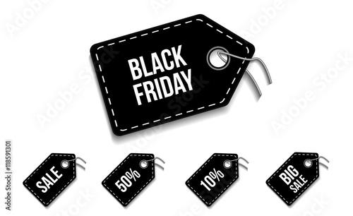 Black friday etiquetas de circulos Canvas Print