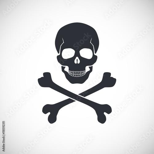 Fotografía  Skull and crossbones sign.