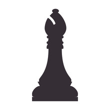 Chess Piece Bishop Game Chessboard Strategy Vector Illustration