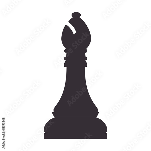 Slika na platnu chess piece bishop game chessboard strategy vector illustration