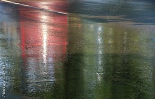 Fotografie, Obraz  Slippery road after rain.