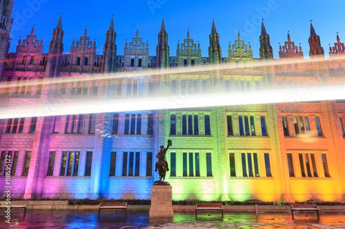 Marischal College view in the evening in Aberdeen Scotland Canvas Print