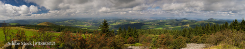Foto auf Gartenposter Hugel Panorama der Rhön vom Gipfel der Wasserkuppe
