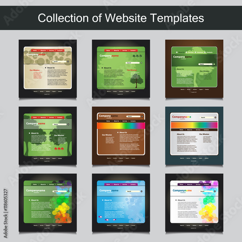Collection of website templates for your business nine nice and collection of website templates for your business nine nice and simple design templates with different friedricerecipe Image collections