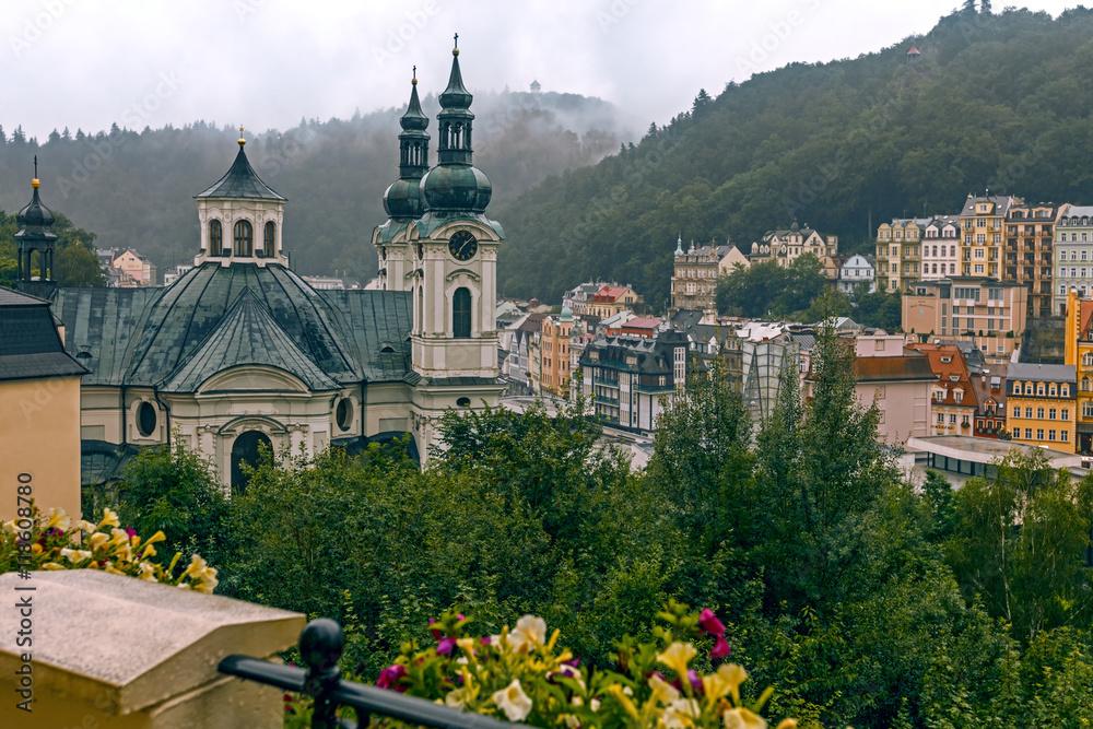 Fotografie, Obraz  Karlovy Vary in August