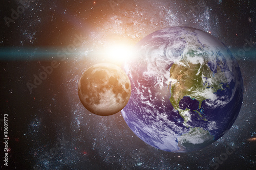 Deurstickers Nasa Solar System - Planet Earth. Elements of this image furnished by NASA.