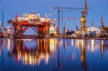 The Oil Platform Under Constru...