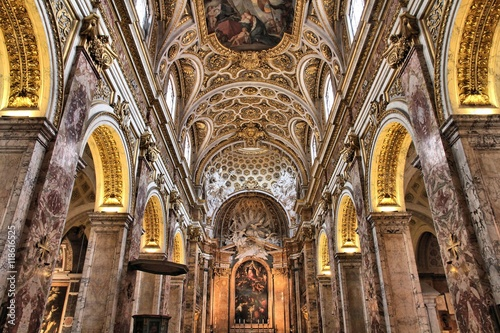 Photographie  San Luigi dei Francesi church in Rome, Italy