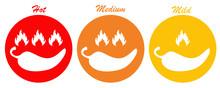 Drei Chili Buttons Hot Medium ...