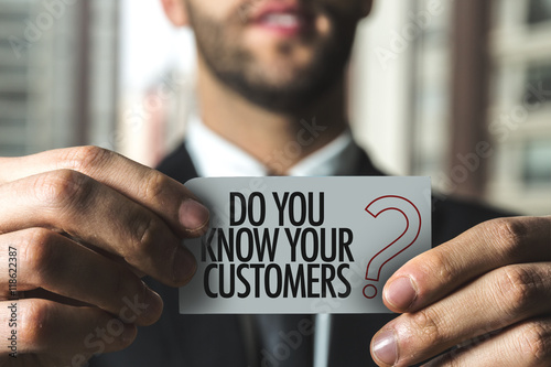 Obraz Do You Know Your Customers? - fototapety do salonu