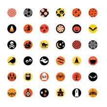 Halloween 1 Inch Circles