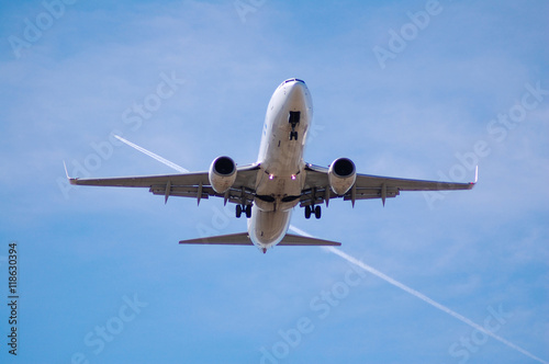 In de dag Vliegtuig B737