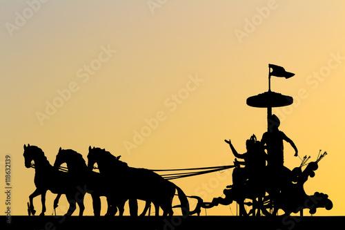 Mahabharata silhouette