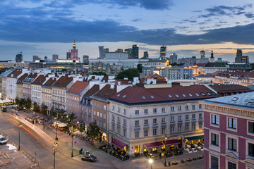 FototapetaTop view  of the old town in Warsaw, Poland