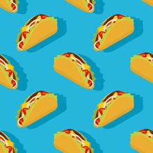 Taco Seamless Pattern. Traditi...