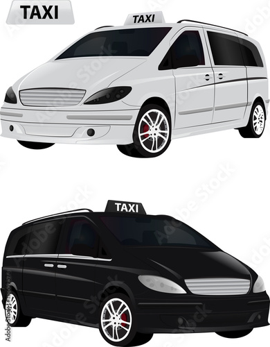 Fotografie, Tablou Taxi Autonoleggio monovolume