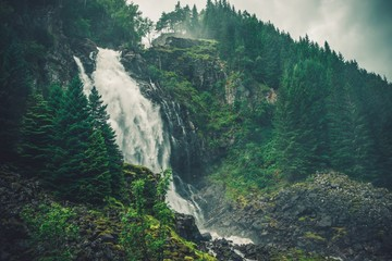 Fototapeta Scenic Norwegian Waterfall