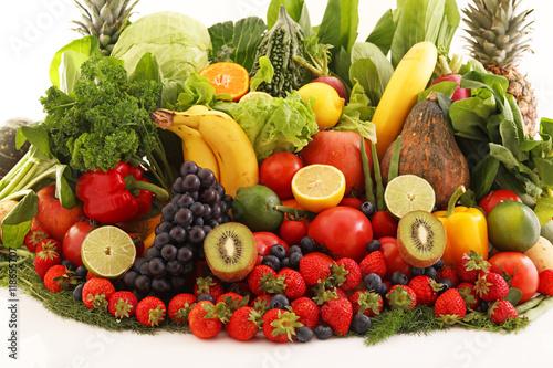 新鮮な野菜と果物 © sunabesyou