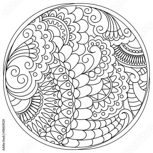 Fotografie, Obraz  tangled mandalas and shapes in the circle
