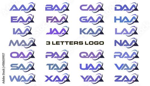 Photo 3 letters modern swoosh logo AAA, BAA, CAA, DAA, EAA, FAA, GAA, HAA, IAA, JAA, KAA, LAA, MAA, NAA, OAA, PAA, QAA, RAA, SAA, TAA, UAA, VAA, WAA, XAA, YAA, ZAA