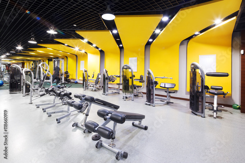 Photo sur Toile Fitness interior of modern gym
