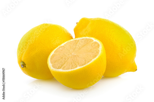 Fotografía  lemon on white background