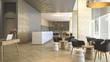Leinwanddruck Bild - 3d rendering luxury hotel reception and lounge
