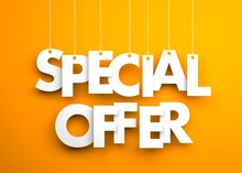 Special Offer - Text Hanging O...