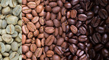 Fototapeta Coffie - Coffee bean collage