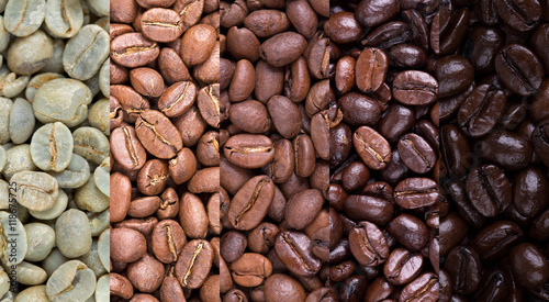 Photo sur Aluminium Café en grains Coffee bean collage