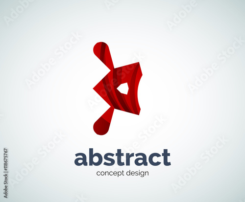 Vector abstruse shape logo template Canvas Print