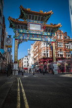 The Gate In Chinatown, London,...