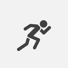 Running Icon Vector, Solid Log...