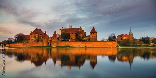 Wall Murals Bridges Teutonic Castle in Malbork (Marienburg) in Pomerania (Poland)