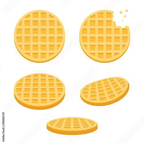 Fotomural Round waffles set