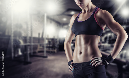 Poster Fitness Athletic girl