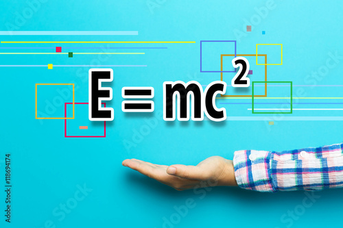 Photo  Mass-Energy Equivalence concept with hand